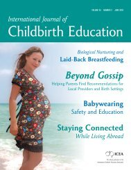 Babywearing Safety and Education - International Childbirth ...