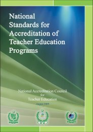 National Standards for Accreditation of Teacher Education
