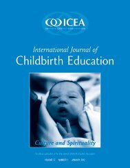 Spirituality and Culture - International Childbirth Education Association