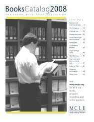 MCLE - Book Catalog (pdf document)