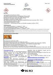 Natriumazid Charakterisierung Grenzwerte und ... - GisChem