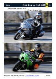 Kluge Köpfe schützen sich!  – Info zum Motorrad-Helm