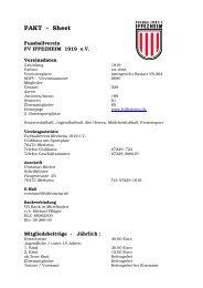 FAKT - Sheet - Fussballverein Iffezheim