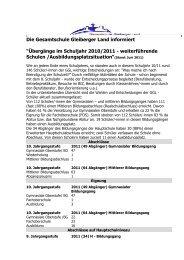 Übergänge 2011[1] - Gesamtschule Gleiberger Land