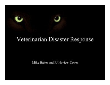 Psychological and Emotional Factors in Veterinary Disaster Response