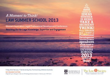 LAW SUMMER SCHOOL 2013 - The University of Western Australia