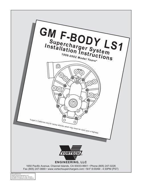 1998 - 2002 GM F-