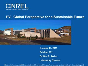PV: Global Perspective for a Sustainable Future