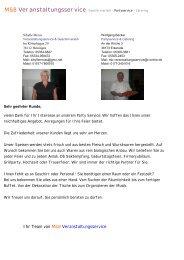 M&B Veranstaltungsservice Geschirrverleih - Partyservice - Catering