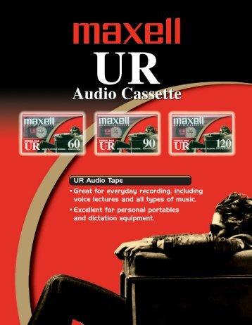 UR Audio Cassette - Maxell Canada