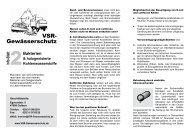 Bakterien & halogenisierte Kohlenwasserstoffe - VSR-Gewässerschutz