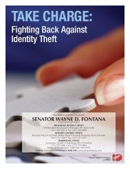 Take Charge: Fighting Back Against Identity Theft - State Senator ...