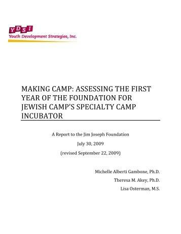 Making Camp: - Jim Joseph Foundation