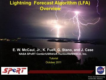 Lightning Forecast Algorithm (LFA) Overview - NASA