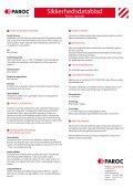 Sikkerhedsdatablad - Paroc.com - Page 2