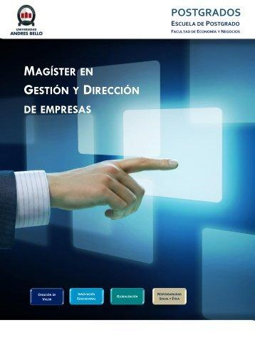 Magíster en Gestión y Dirección de Empresas - Universidad Andrés ...