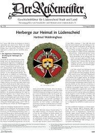 Herberge zur Heimat in Lüdenscheid - Geschichts- und ...