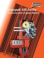 Logopak 500 Series - Barcode Printers | Label Applicators