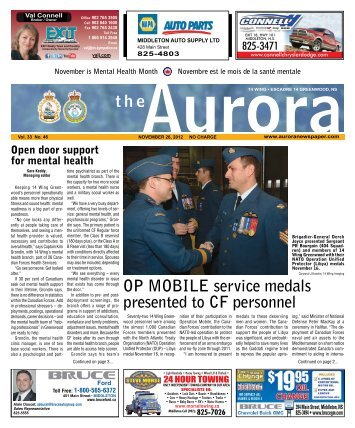 Nov 26 2012 - The Aurora Newspaper
