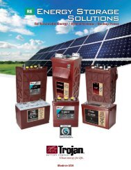 Renewable Energy Storage Solutions - Trojan Battery Company