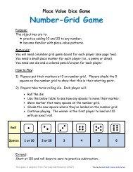 Number-Grid Game - Key School