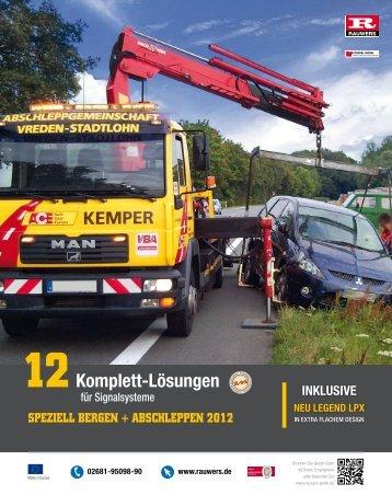 """Sonderausgabe """"Bergen + Abschleppen 2012"""" - Rauwers GmbH"""