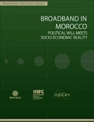 Broadband in Morocco : Political Will Meets Socio ... - infoDev