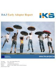 D.6.3 Early Adopter Report - IKS