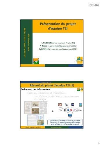Présentation du projet d'équipe T2I - IUT Bayonne