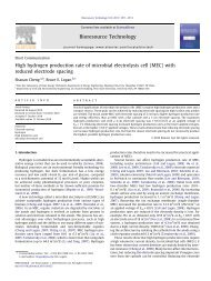 High hydrogen production rate of microbial electrolysis cell (MEC ...