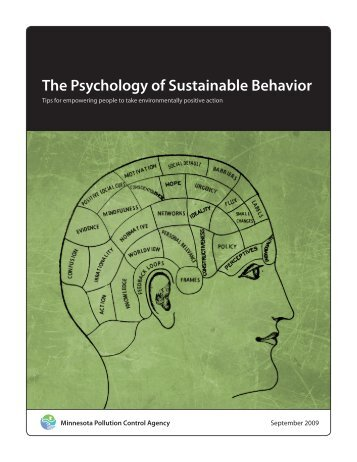 The Psychology of Sustainable Behavior - Minnesota Pollution ...