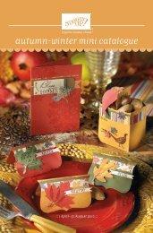 2010 Autumn – Winter Mini Catalogue. - Stampin' Up!