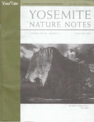 NATURE NOTES - Yosemite Online