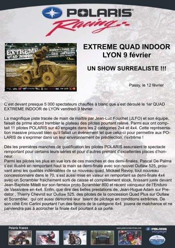 EXTREME QUAD INDOOR LYON 9 février UN SHOW SURREALISTE
