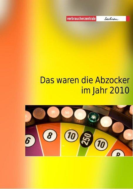 Das waren die Abzocker im Jahr 2010 - Gisela Kallenbach