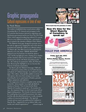 Graphic propaganda - Graphic Exchange magazine