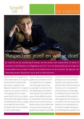 'Respecteer jezelf en wat je doet' - SimplifyLife