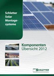 Schletter Produktkatalog - Solera GmbH