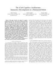The iCub Cognitive Architecture: Interactive ... - David Vernon