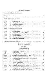 INDICE SOMMARIO Costituzione della Repubblica ... - La Tribuna