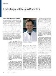 Endoskopie 2006 - Ein Blick in eine chirurgische Endoskopie-Praxis