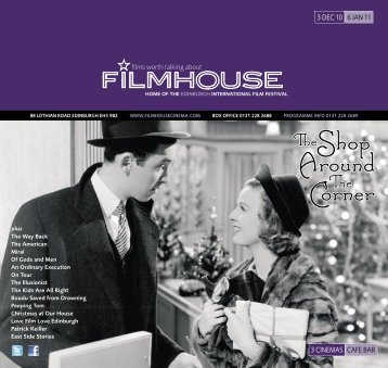 TheShop Around Corner - Filmhouse Cinema Edinburgh