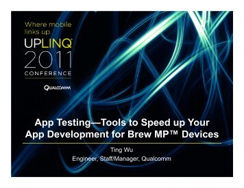 App Testing—Tools to Speed up Your App Development for ... - Uplinq