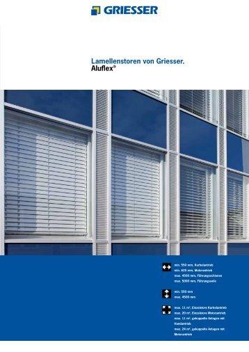 Lamellenstoren von Griesser. Aluflex®