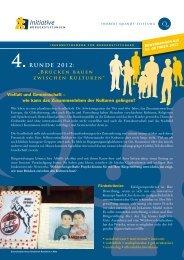 Flyer Ideenwettbewerb - Initiative Bürgerstiftungen