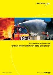 Brandmeldung - Elektro Burkhalter AG