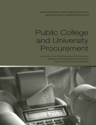 Public College and University Procurement - American Association ...