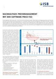 Nachhaltiges Preismanagement mit der Software Price f(x) - ISB AG
