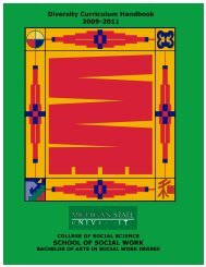 Diversity Curriculum Handbook 2009-2011 SCHOOL OF ... - ITARI