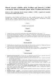Obecně závazná vyhláška města Frýdlant nad Ostravicí č. 6/2004 o ...